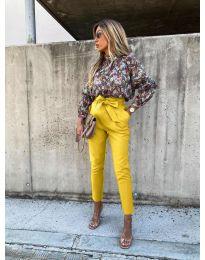 Панталони - код 788 - жолта