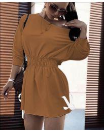 Фустан - код 7470 - кафеава