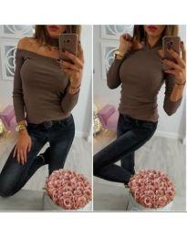 Блуза - код 849 - кафеава