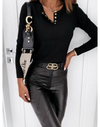 Блуза - код 4175 - црна