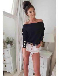 Блуза - код 3732 - црна