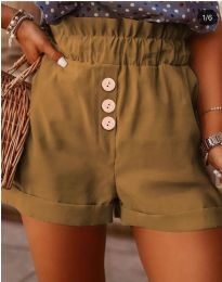 Кратки панталони - код 9383 - кафеава