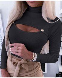 Блуза - код 3501 - 2 - црна