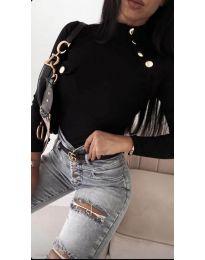 Блуза - код 11486 - 3 - црна