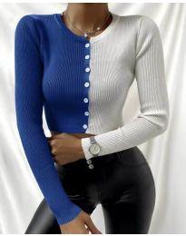 Блуза - код 6366 - 2 - шарена