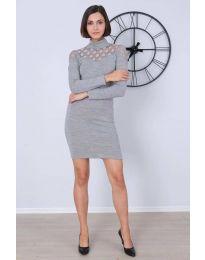 Фустан - код 6099 - 1 - сиво