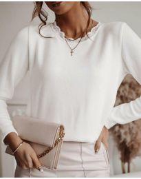 Блуза - код 1580 - 1 - бело