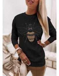 Блуза - код 4824 - црна