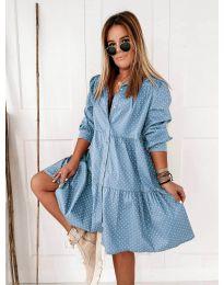 Фустан - код 5557 - светло сина