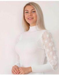 Блуза - код 7870 - бело