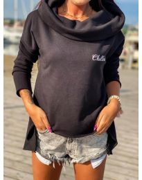 Блуза - код 7878 - црна