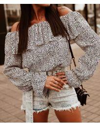 Блуза - код 5452 - бела