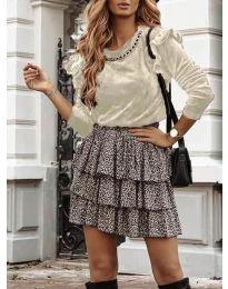 Блуза - код 4948 - кремова