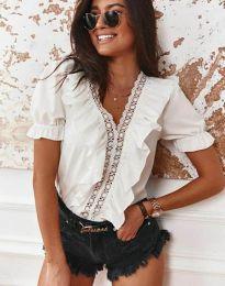 Блуза - код 4730 - 1 - бела