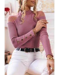Блуза - код 2771 - 4 - розова