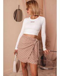 Блуза - код 3095 - бело