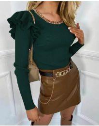Блуза - код 8865 - путер зелена