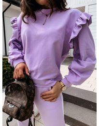Блуза - код 6613 - виолетова