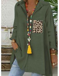 Блуза - код 5641 - путер зелена