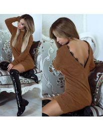Фустан - код 0502 - кафеава