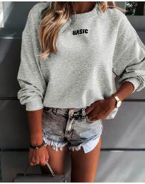 Блуза - код 5154 - сиво