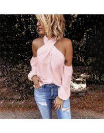 Блуза - код 6568 - розова