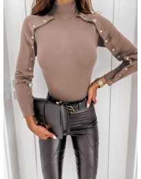 Блуза - код 4179 - кремова