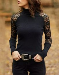 Блуза - код 35288 - 4 - црна