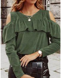 Блуза - код 4111 - путер зелена