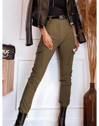 Панталони - код 4842 - кафеава