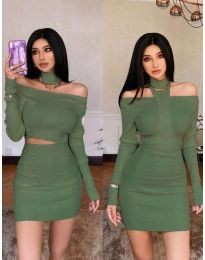 Фустан - код 3982 - зелена