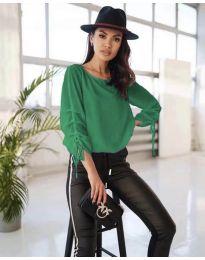 Блуза - код 5165 - зелена