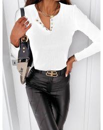 Блуза - код 4175 - бело