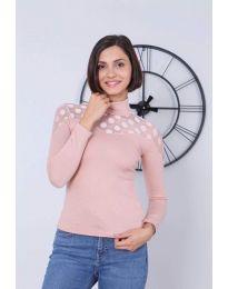 Блуза - код 5377 - 3 - пудра