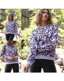Блуза - код 1471 - 3 - виолетова