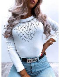 Блуза - код 2496 - бела