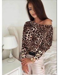 Блуза - код 5156 - 8 - шарена