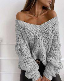 Блуза - код 1637 - сиво