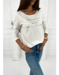 Блуза - код 4247 - бело