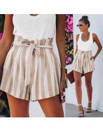 Кратки панталони - код 9096 - кремова