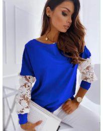 Блуза - код 4426 - темно сина