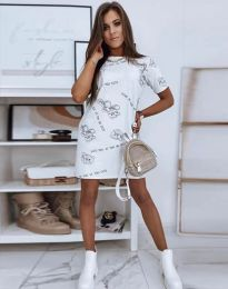 Фустан - код 2906 - бело