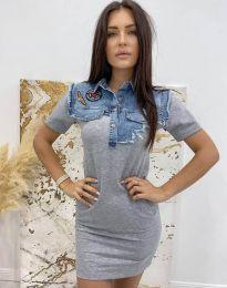 Фустан - код 2473 - 1 - сиво