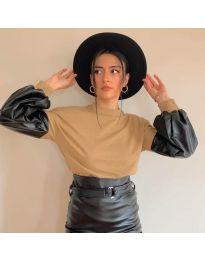 Блуза - код 5171 - 2 - кафеава