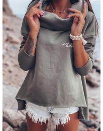 Блуза - код 7878 - сиво