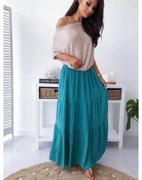 Сукња - код 259 - тиркизна сина боја
