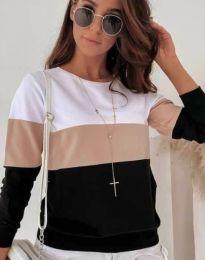 Блуза - код 9966 - 5 - шарена