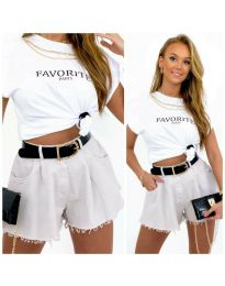 Кратки панталони - код 4563 - 2 - бела