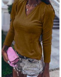 Блуза - код 0755 - кафеава