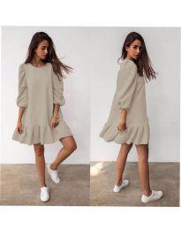 Фустан - код 784 - кремова
